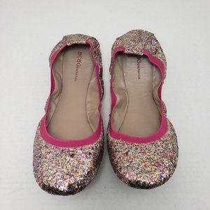 BCBGeneration PL-ELLISONX Closed Toe Glitter Flats
